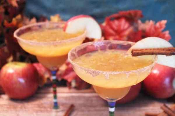 Apple Cider Margarita closeup | 2 Cookin Mamas