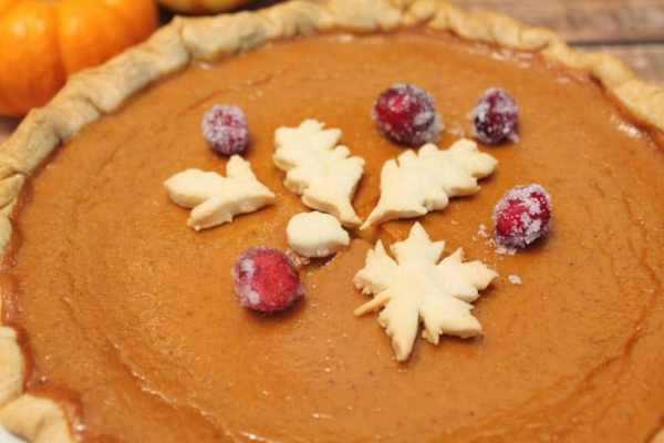 Moms Pumpkin Pie closeup | 2 Cookin Mamas