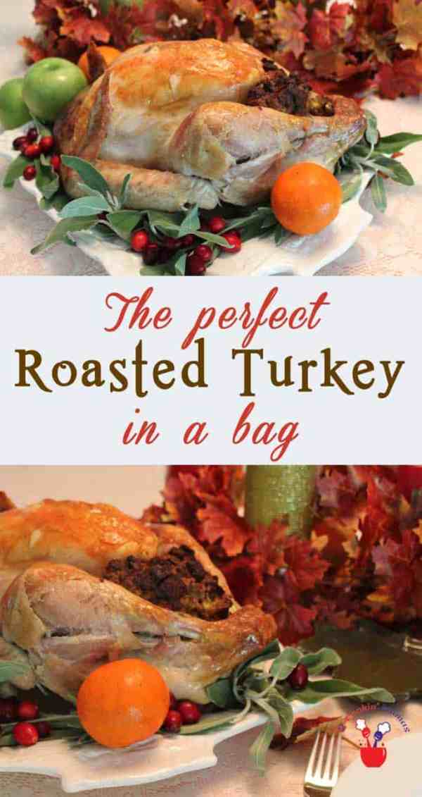 Thanksgiving Turkey main | 2 Cookin Mamas We've got a secret for the easiest Thanksgiving Turkey. Roast it in a cooking bag - no basting, less cook time and easier clean up.