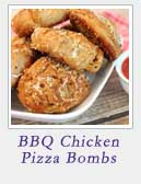 BBQ Chicken Pizza Bombs | 2 Cookin Mamas