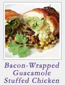 Bacon Wrapped Guacamole Stuffed Chicken | 2 Cookin Mamas