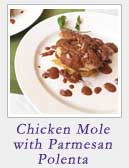 Chicken Mole with Parmesan Polenta