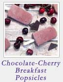 Chocolate Cherry Breakfast Popsicles | 2 Cookin Mamas
