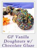 Gluten-free Vanilla Doughnuts with Chocolate Glaze | 2 Cookin Mamas