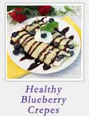 Healthy Blueberry Crepes | 2 Cookin Mamas