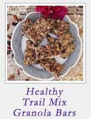 Healthy Trail Mix Granola Bars | 2 Cookin Mamas