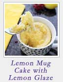 Lemon Mug Cake with Lemon Glaze | 2 Cookin Mamas