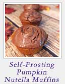 Self-Frosting Pumpkin Nutella Muffins | 2 Cookin Mamas