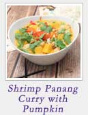 Shrimp Panang Curry with Pumpkin