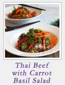 Thai Beef with Carrot Basil Salad