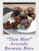 Thin Mint Avocado Brownie Bites