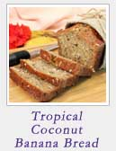 Tropical Coconut Banana Bread | 2 Cookin Mamas