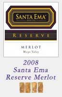 2008 Santa Ema Reserve Merlot