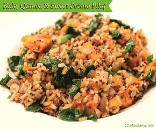 Kale Quinoa and Sweet Potato Pilaf