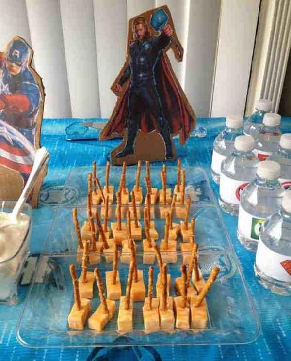 Superhero Birthday Party Thor snack | 2 Cookin Mamas