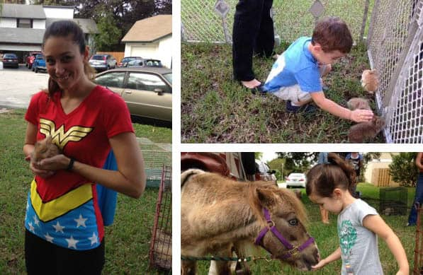 Superhero Birthday Party petting zoo | 2 Cookin Mamas