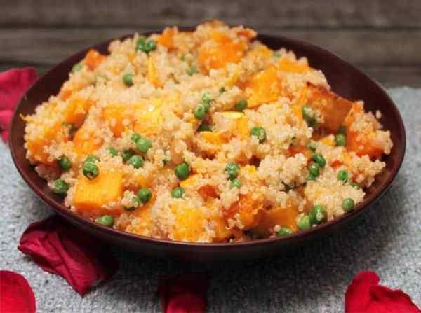 Quinoa Butternut & Pea Pilaf | 2 Cookin Mamas