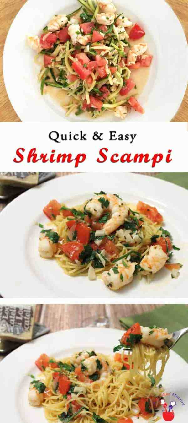 Shrimp Scampi | 2CookinMamas - It's fresh, healthy, delicious & quick. Perfect dinner for a busy night.