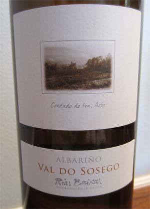 2010 Val Do Sosego Albarino