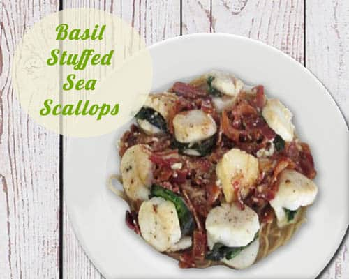 Basil Stuffed Scallops | 2CookinMamas