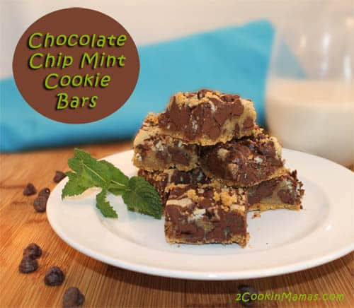 Chocolate Mint Cookie Bars | 2CookinMamas