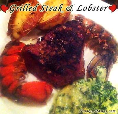 Grilled Steak and Lobster | 2CookinMamas