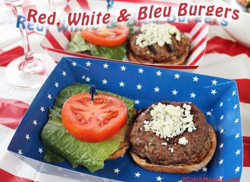 Red White and Bleu Burgers | 2CookinMamas