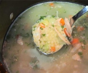 Turkey Soup with ladle