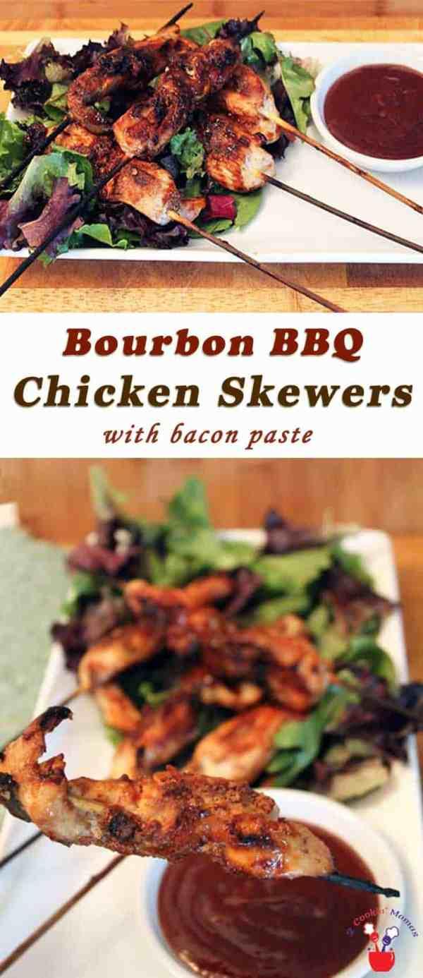 Bourbon BBQ Chicken Skewers | 2 Cookin Mamas