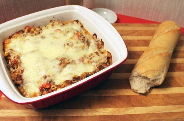 Lasagna Stuffed Peppers Casserole | 2CookinMamas