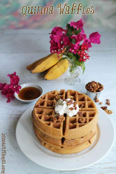 Quinoa Waffles   2CookinMamas