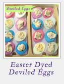 Easter Dyed Deviled Eggs