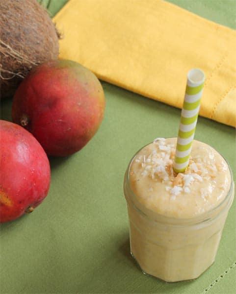 Coconut Mango Smoothie 1 | 2CookinMamas