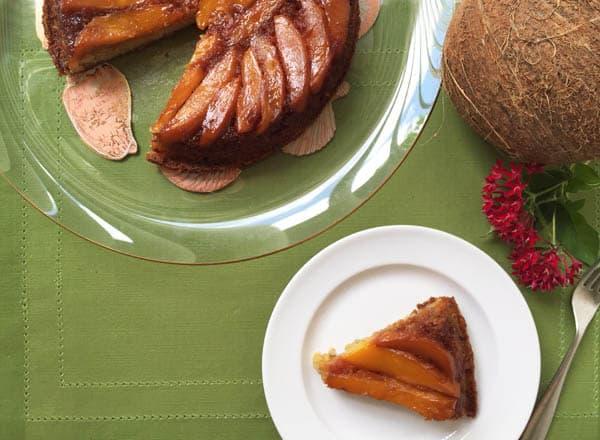 Mango Upside Down Cake Serving | 2CookinMamas