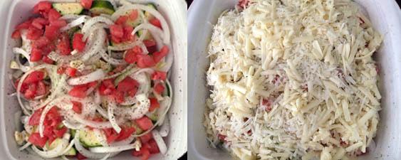 Zucchini Casserole prep