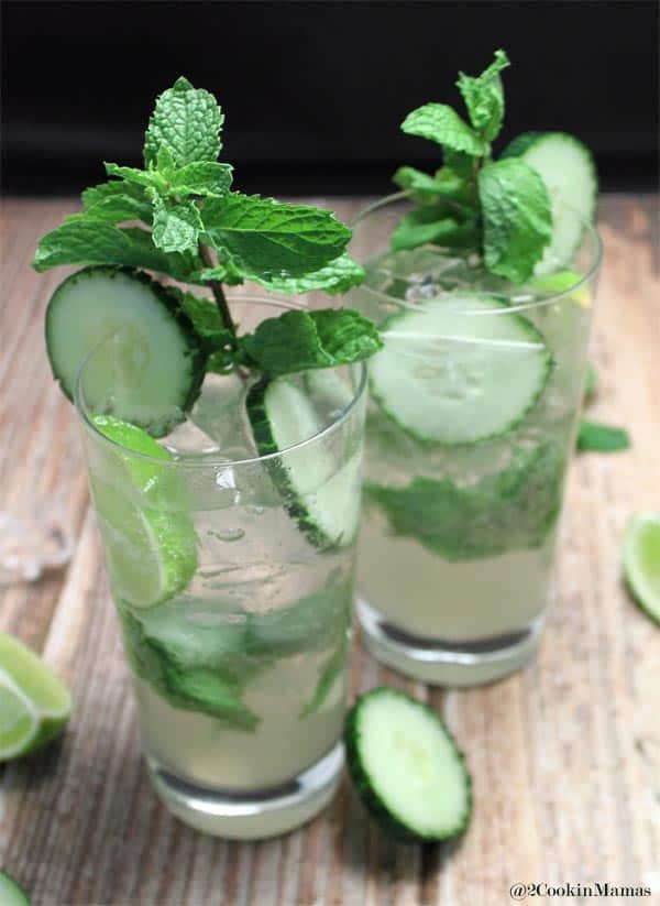 Cucumber Mojito closeup|2CookinMamas