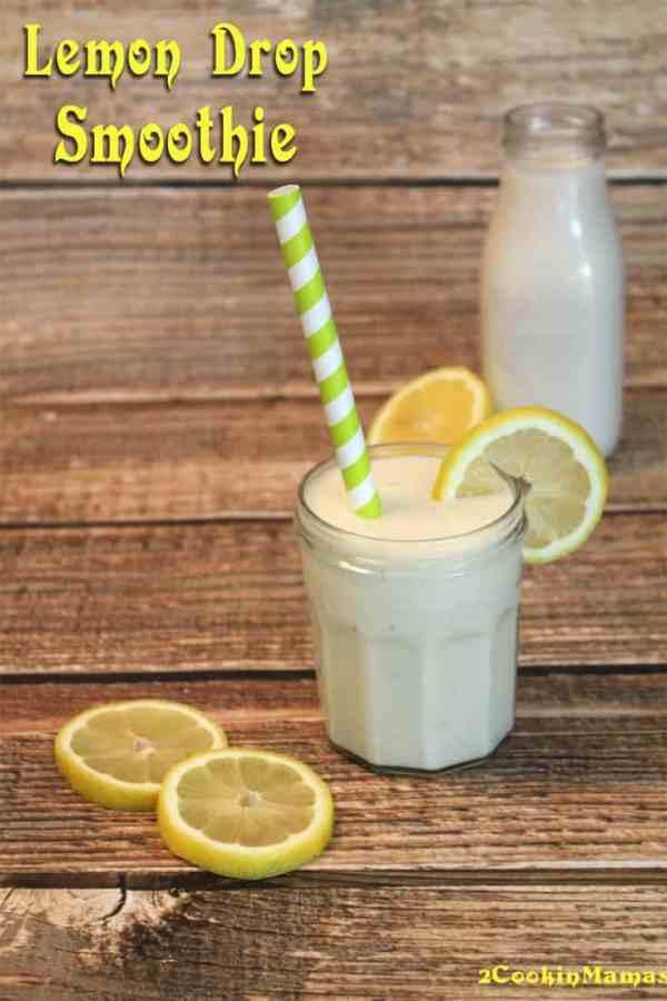 Lemon Drop Smoothie main | 2CookinMamas