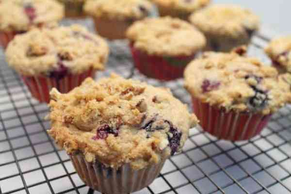 Blueberry Streusel Muffins 640|2CookinMamas