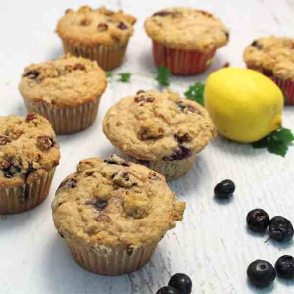 Blueberry Streusel Muffins square|2CookinMamas