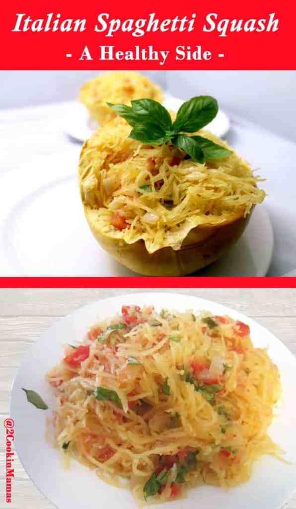 Italian Spaghetti Squash pin | 2CookinMamas