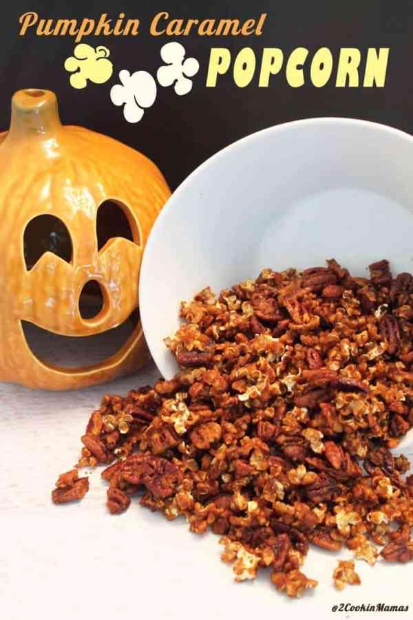 Pumpkin Caramel Popcorn main|2CookinMamas