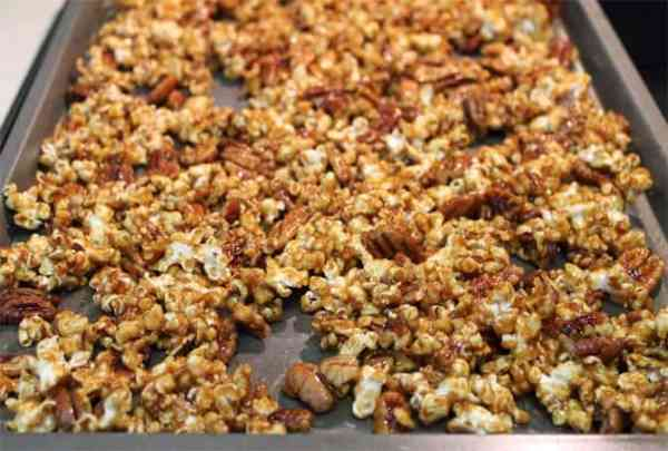 Pumpkin Caramel Popcorn ready to bake 2CookinMamas