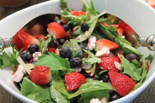 Red White and Blue Salad close up | 2CookinMamas