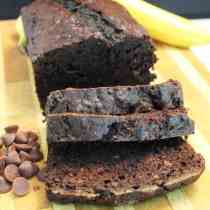 Chocolate Banana Bread square|2CookinMamas