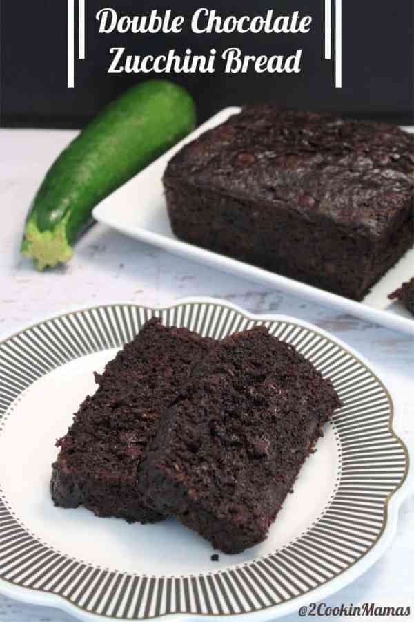 Double Chocolate Zucchini Bread | 2CookinMamas - Doulbe chocolate deliciousness and with hidden veggies - they'll never know!