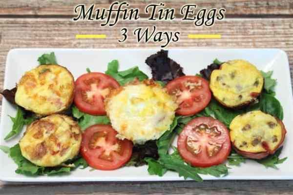 Muffin Tin Eggs 3 Ways |2CookinMamas - Healthy& delicious on-the-go breakfast. Freeze it, brown bag it, reheat 1 minute, breakfast!