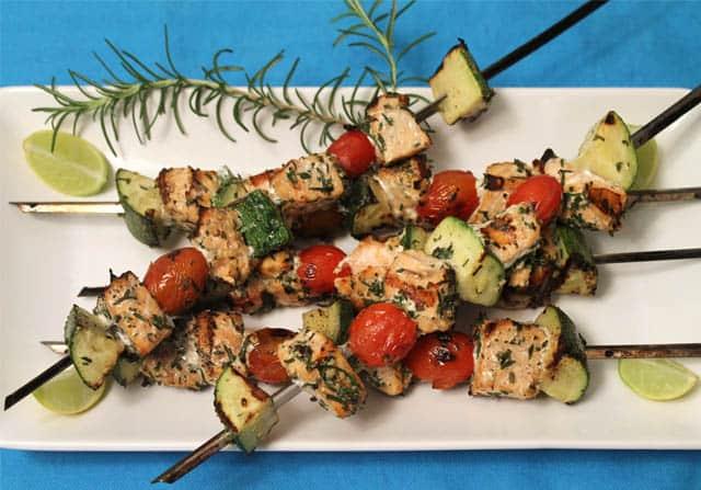 Italian Salmon Skewers 2 Cookin Mamas
