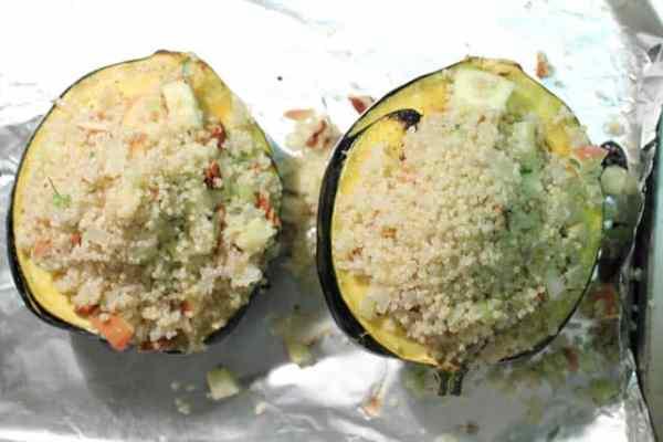 Stuffed Acorn Squash stuffing|2CookinMamas