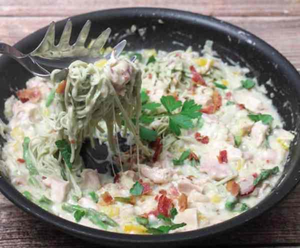 Chicken and Pasta Alfredo 670 | 2CookinMamas