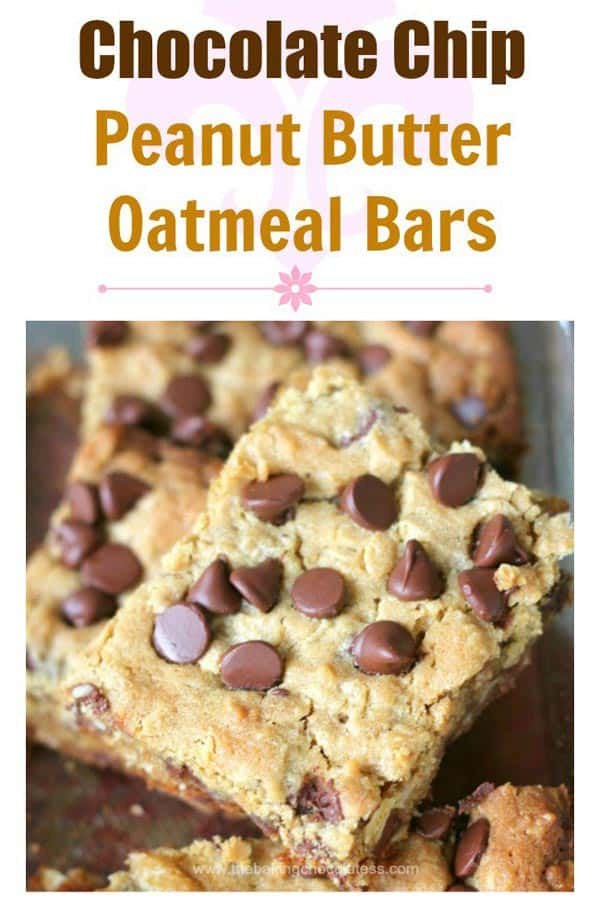 Chocolate-Chip-Peanut-Butter-Oatmeal-Bars from The Baking Chocolatess